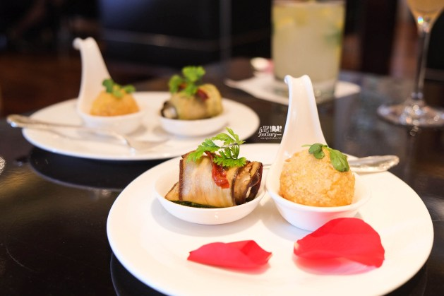 Saffron Arancini and Eggplant Parmigiana at Rosso Shangri-La Jakarta by Myfunfoodiary