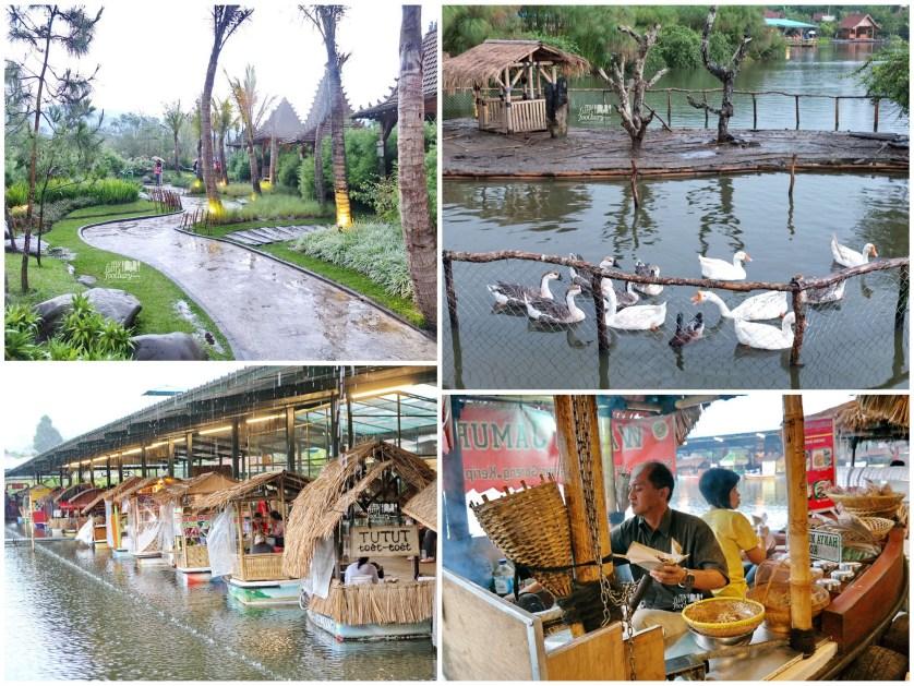 Suasana Penjual Makanan di Atas Perahu di Floating Market Lembang by Myfunfoodiary