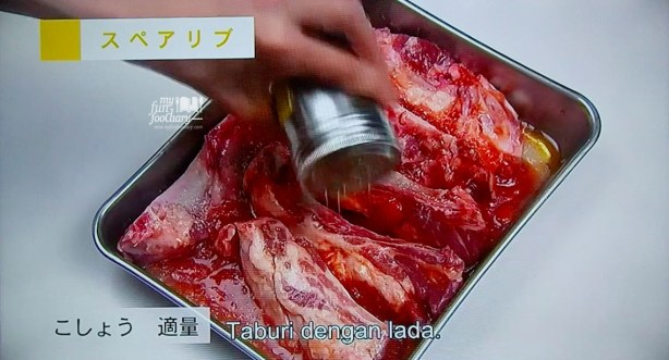 Taburi Iga Ribs dengan Lada Basic of The Dishes WakuWakuJapan part 03