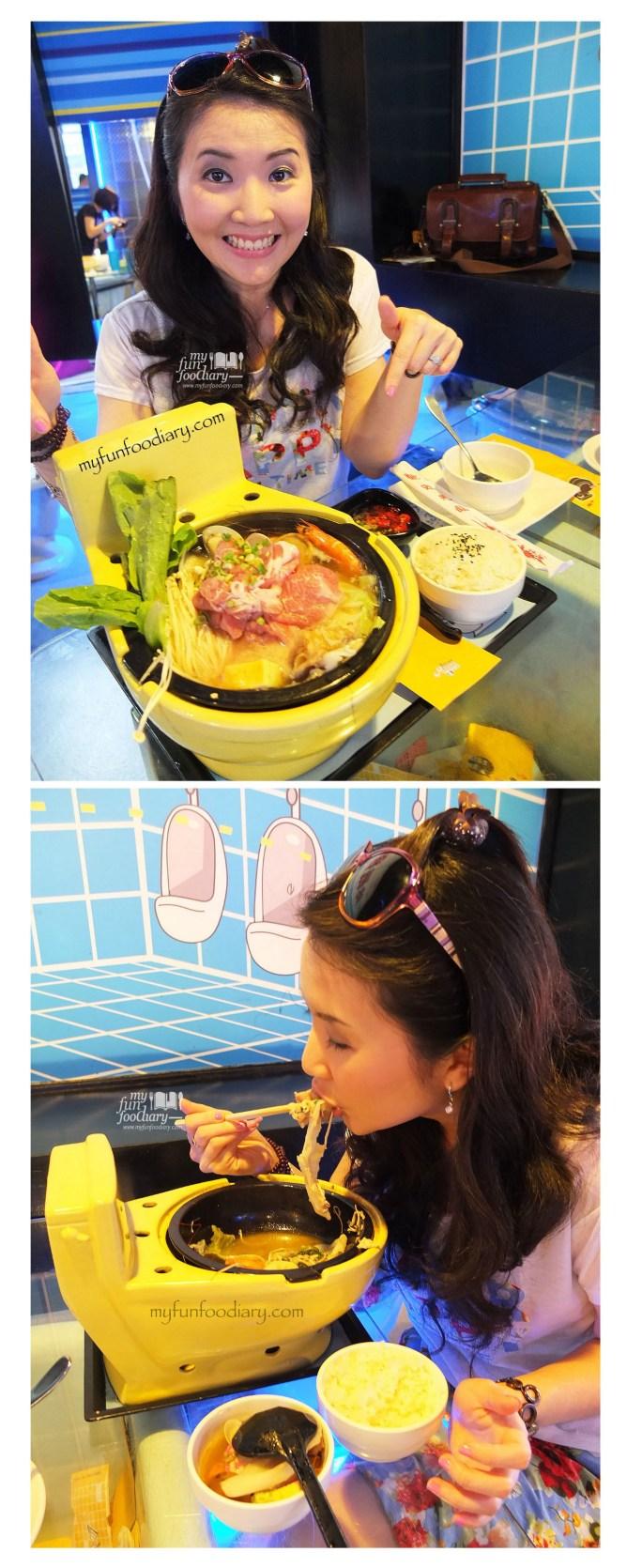 Enjoying Yummy Signature Modern Hot Pot at Modern Toilet Cafe Taiwan - by Myfunfoodiary