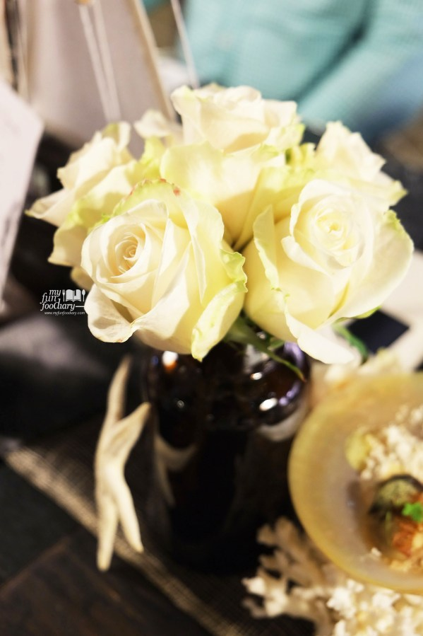 Flower Decoration at Real Food Concept by Myfunfoodiary