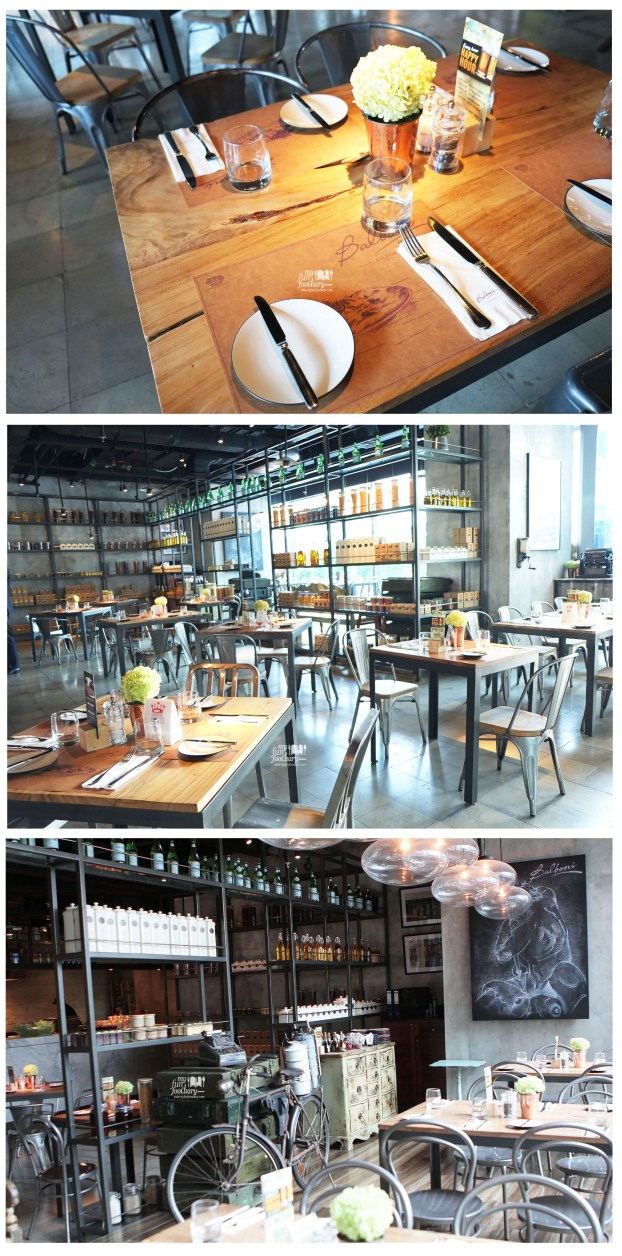 Indoor Ambience at Balboni Ristorante by Myfunfoodiary - collage