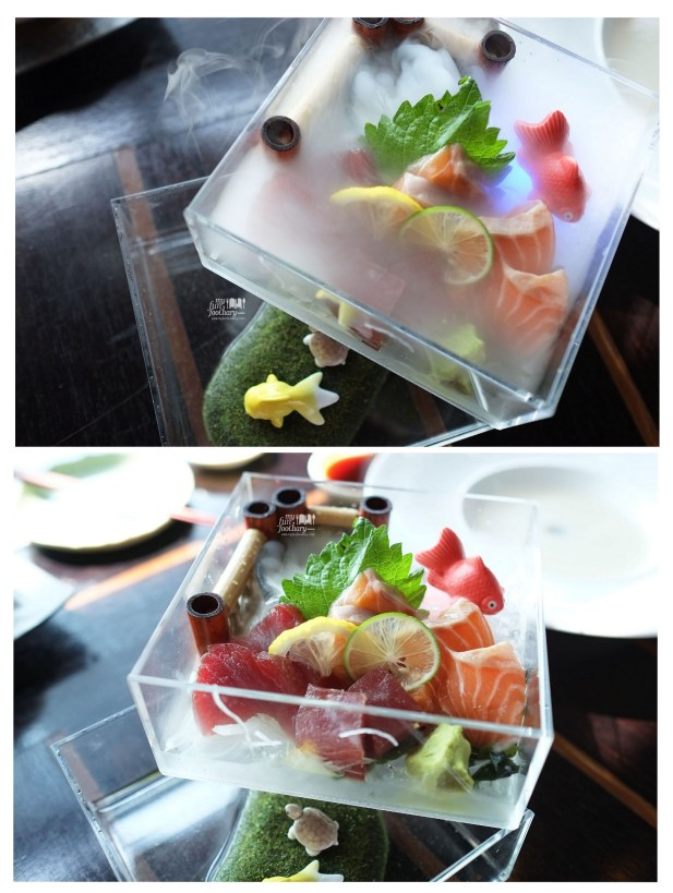 Shake and Maguro Sashimi at Enmaru Restaurant at Altitude The Plaza by Myfunfoodiary -collage