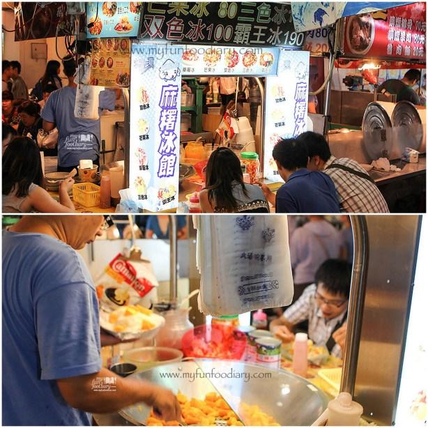 Dessert Stall Mango Ice at Rao He Night Market Taiwan by Myfunfoodiary