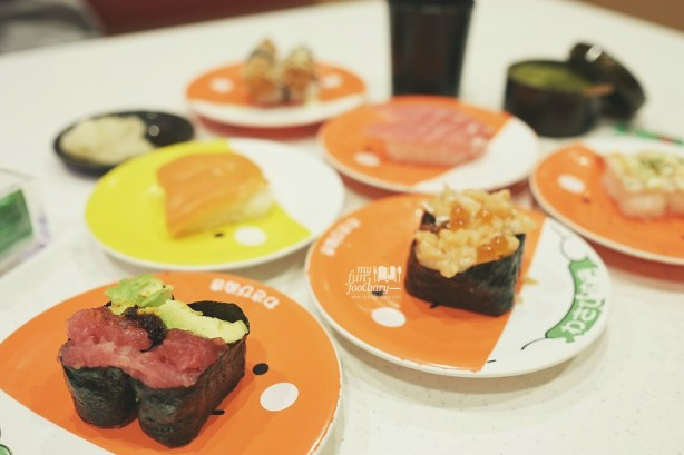 Our Sushi Dinner at Premium Sushi Train KAIO Sushi by Myfunfoodiary