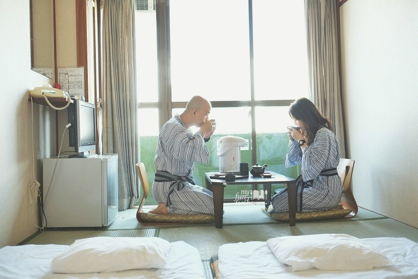 Our Tea Time inside our Ryokan in Japan - by Myfunfoodiary