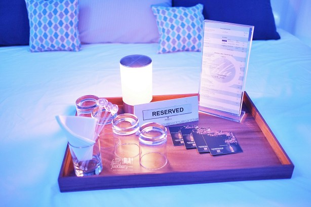 Reserved Bed at BLU Shangri-la Jakarta by Myfunfoodiary