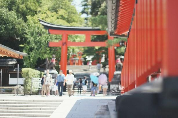 View from The Main Hall at Fushimi Inari Taisha by Myfunfoodiary