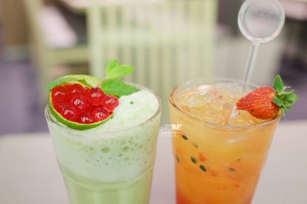 Green Tea Delima dan Red Suntiang at Suntiang Restaurant by Myfunfoodiary