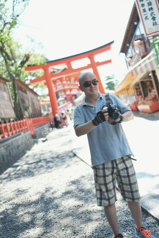 Andy at at Fushimi Inari Taisha Kyoto by Myfunfoodiary
