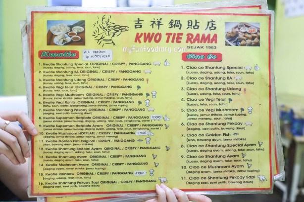 Daftar Menu Kwotie Rama Bandung by Myfunfoodiary