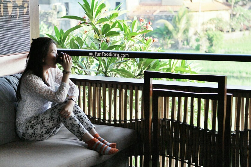 Enjoying My Coffee Time at The Balcony - Alaya Resort Ubud by Myfunfoodiary