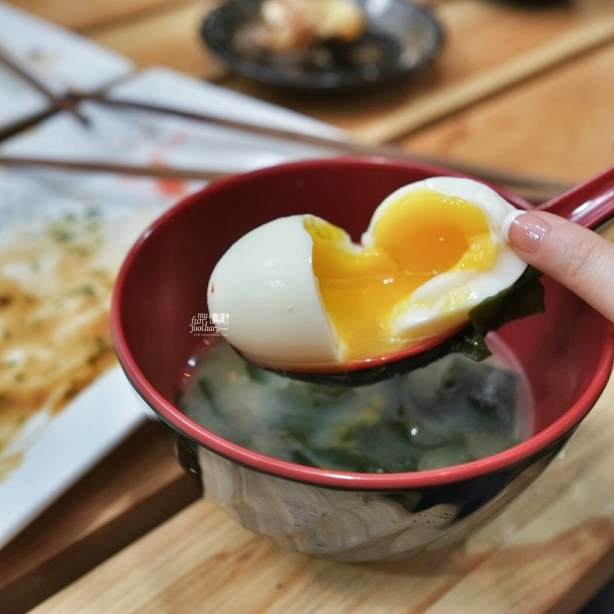 Miso Soup with Egg at Tomio Japanese Izakaya by Myfunfoodiary