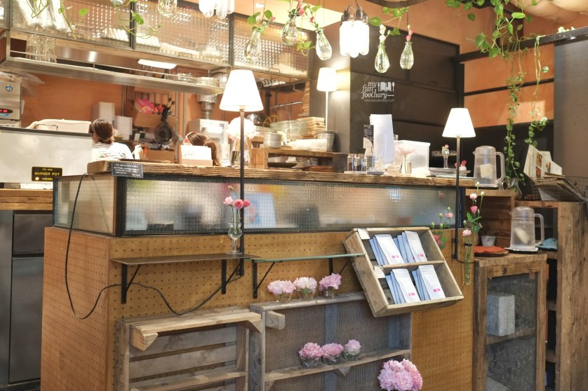 Cashier and Kitchen at Aoyama Flower Market in Tokyo Japan by Myfunfoodiary