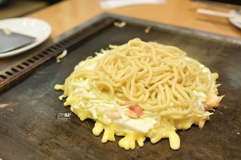 Second Step Noodles are put at Tsuruhashi Fugetsu Dotonbori Osaka by Myfunfoodiary