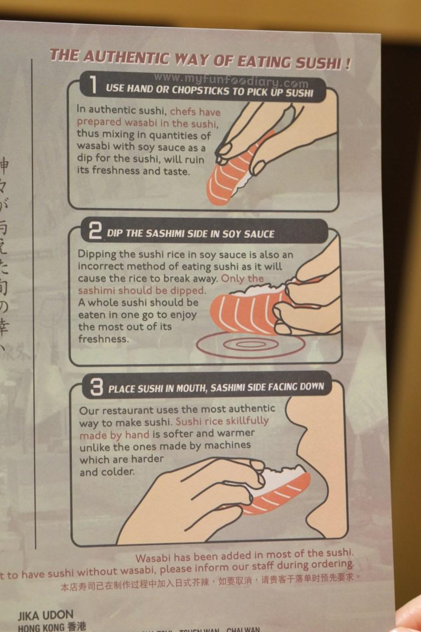 Cara Makan Sushi at Itacho Sushi by Myfunfoodiary