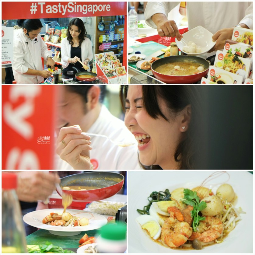 Cooking Laksa Udang with Chef Chandra at Tasty Singapore by Myfunfoodiary