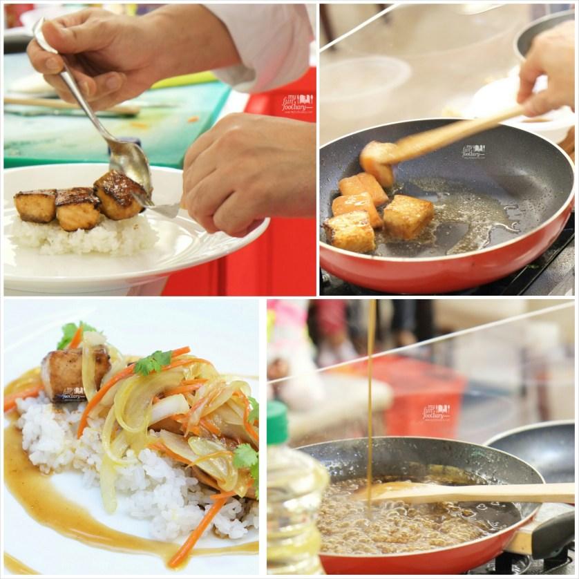 Light Soya Glazed Salmon by Chef Chandra - by Myfunfoodiary