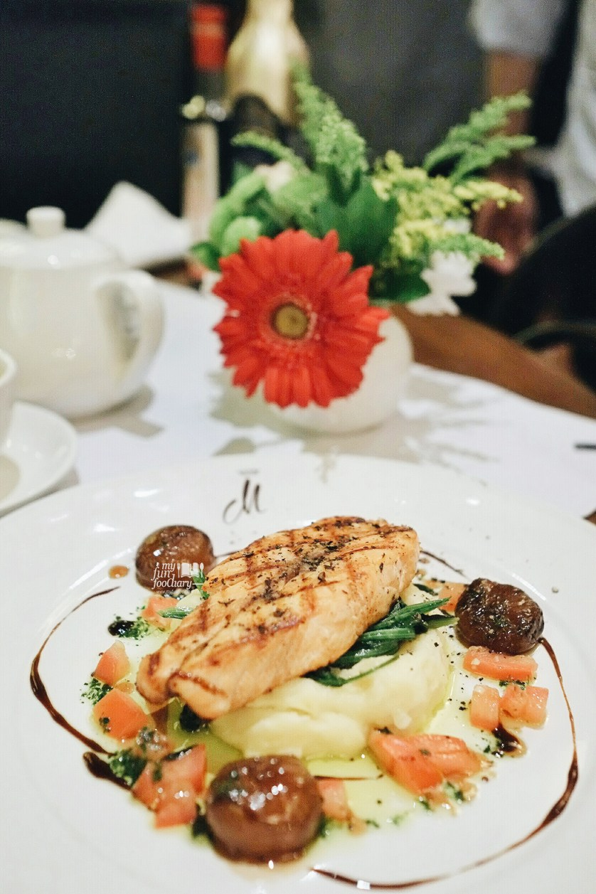 Grilled Salmon Steak at Caffe Milano by Myfunfoodiary