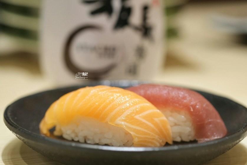 Salmon and Blue Fin Tuna at Itacho Sushi Grand Indonesia by Myfunfoodiary
