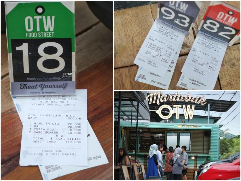 Bill Pesanan OTW Food Street Gading by Myfunfoodiary kolase
