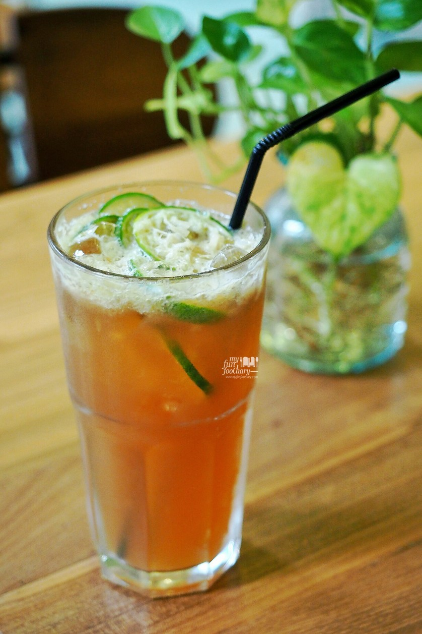 Lime Vanilla Ice Tea at Breakfast at Cayenne by Myfunfoodiary
