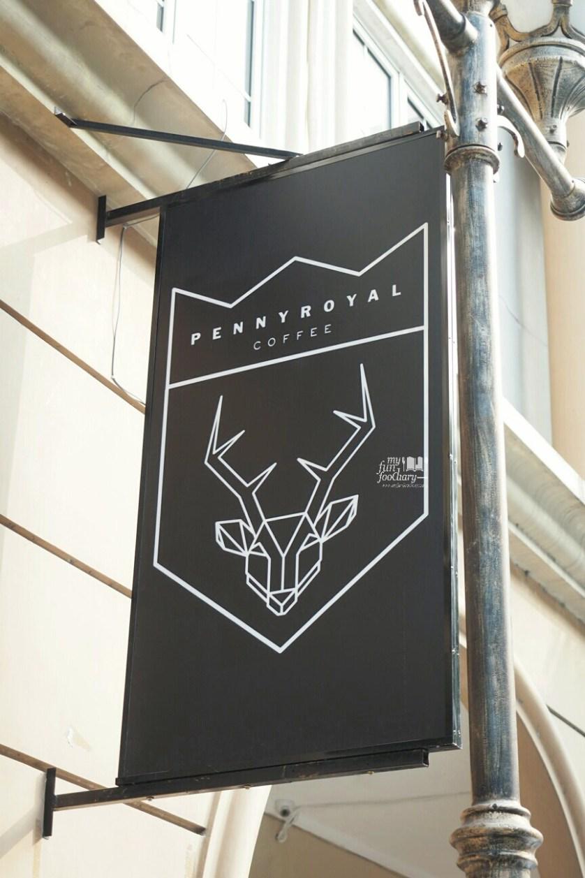 Pennyroyal Coffee Signboard at PennyRoyal Coffee PIK by Myfunfoodiary