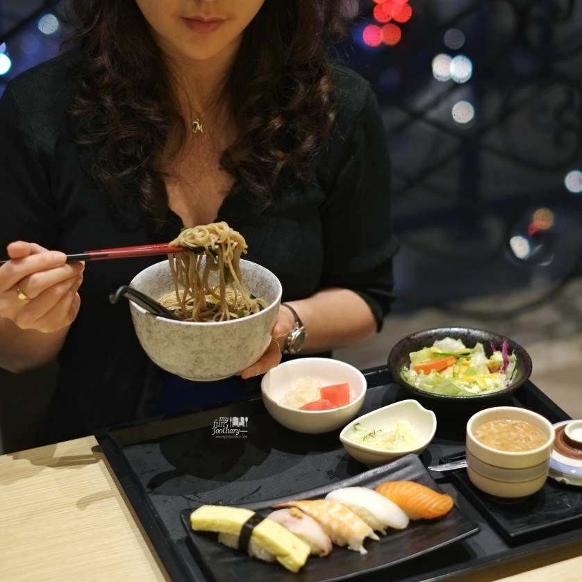 Sushi Set with Cold Soba at Itacho Sushi by Myfunfoodiary