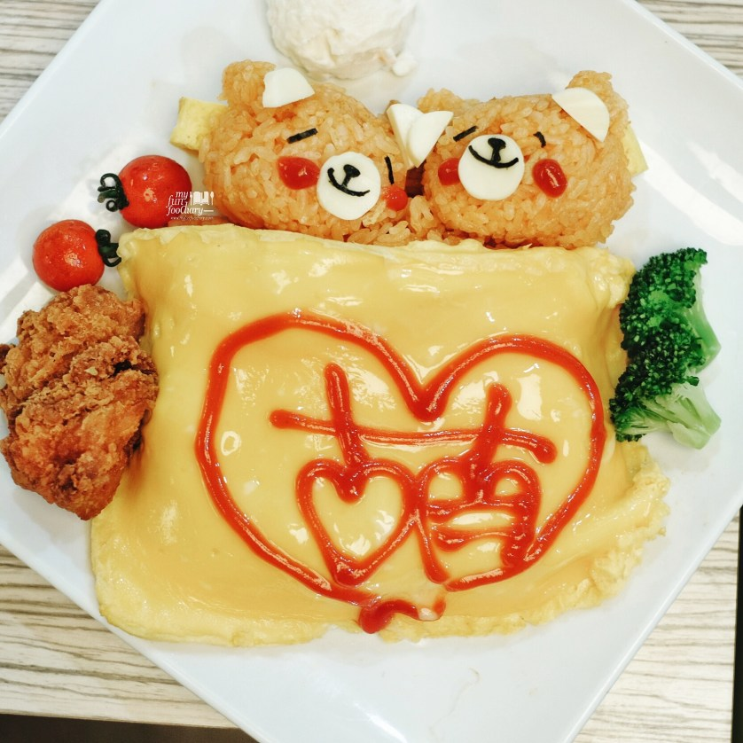 Twins Teddy Bear Omurice at Maids Dreamin Cafe by Myfunfoodiary