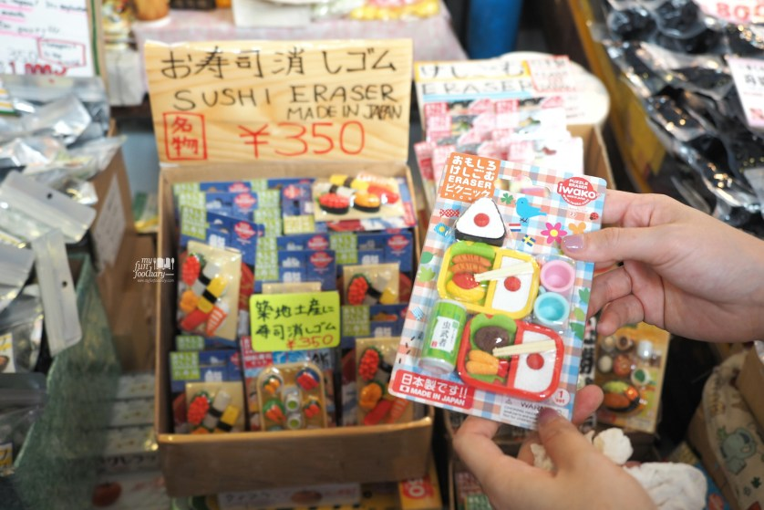 Cute sushi eraser for souvenirs at Tsukiji Market by Myfunfoodiary