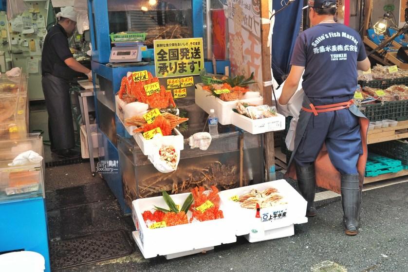King Crab at Tsukiji Market by Myfunfoodiary