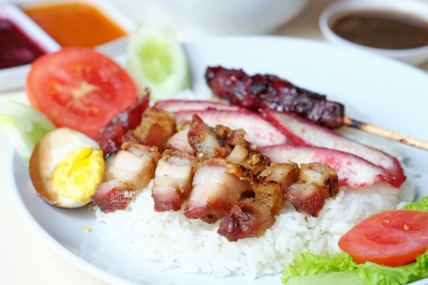 Nasi Campur Special (Special pork mixed rice) - IDR 35K