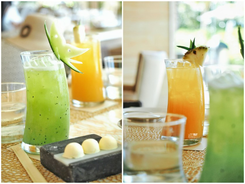 Left: Mulia Garden Mocktail - Right: Mulia Delight Mocktail