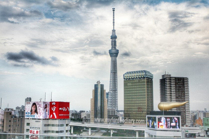 View of Tokyo Sky Tree in Tokyo by Myfunfoodiary