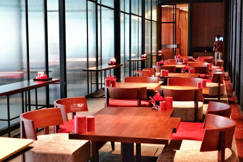 Lounge area at 1945 Restaurant Fairmont Hotel Jakarta by Myfunfoodiary