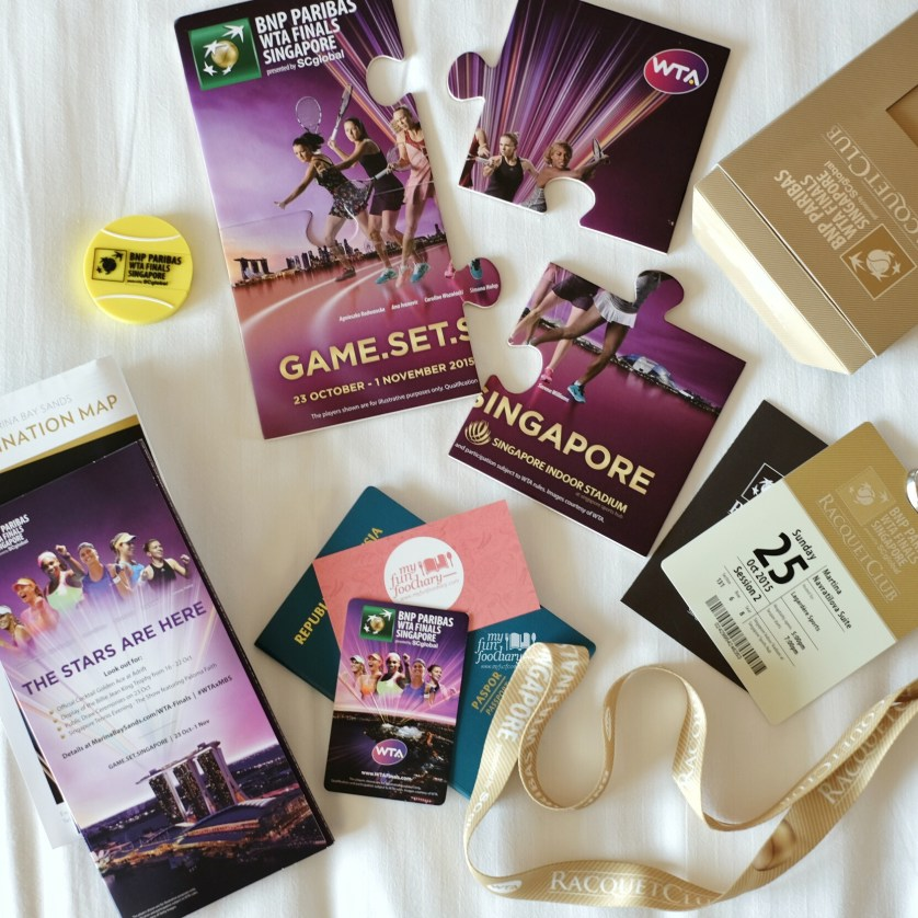 Special Tickets to Watch the WTA Finals 2015 on Sunday in Singapore by Myfunfoodiary