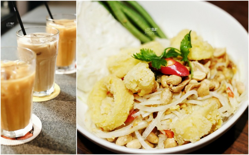 Thai Tea and Som Tam with Calamary at Tom Tom PIK by Myfunfoodiary