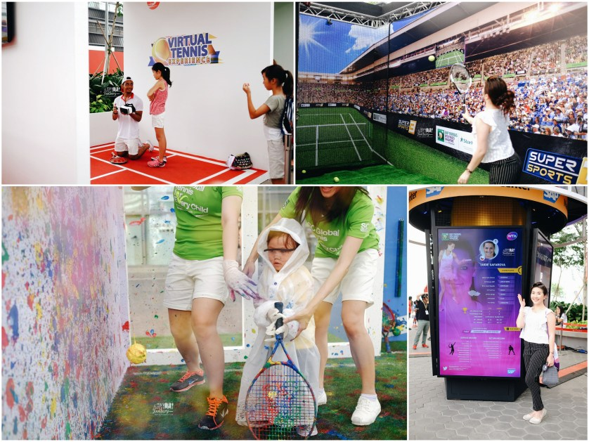 Virtual Tennis Experience at the Fan Zone Singapore by Myfunfoodiary