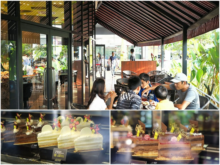 Outdoor Ambiance and Cake Display at Del' Immo Patisserie BSD by Myfunfoodiary