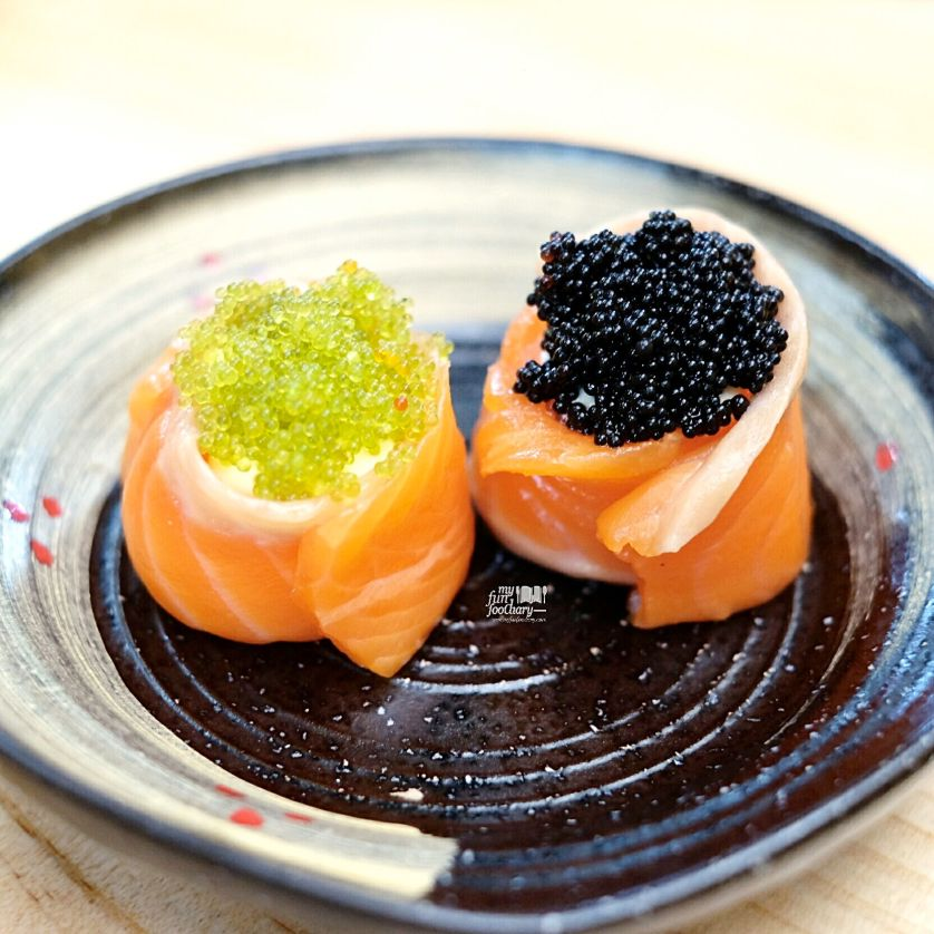 Salmon Hana Tobiko at Nama Sushi by Myfunfoodiaryedit