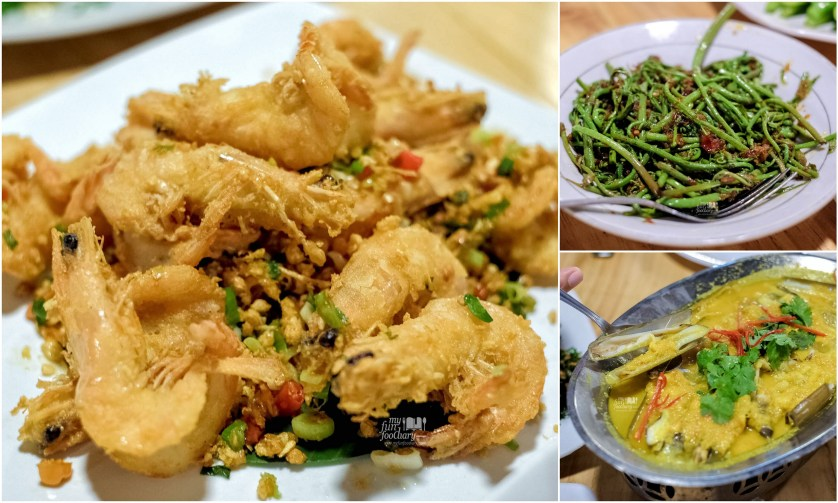 Udang Lada Garam - Pakis Ebi - Kerang at Cabe Ijo Seafood by Myfunfoodiary