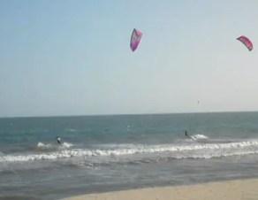 kitesurfers in vietnam