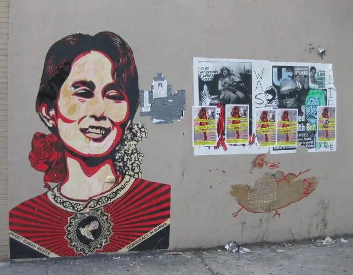 Street art in Myanmar