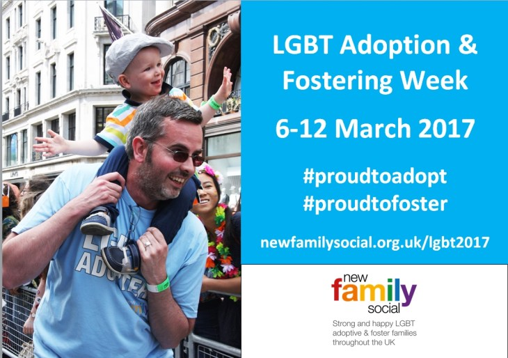 New Family Social LGBT Adoption & Fostering Week postcard