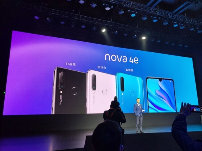 huawei new nova 4e smartphone lunched with triple camera rear and 32 megapixel front camera