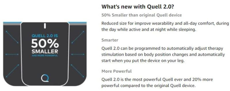 Quell 2.0 Wearable Pain Relief Technology black
