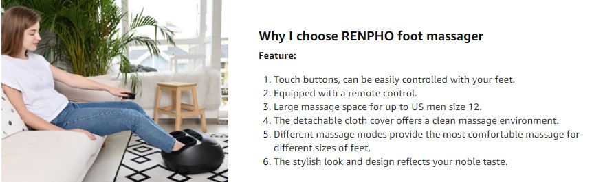 RENPHO Foot Massager Machine with Heat 1 2
