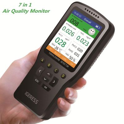 Air Quality Monitor IGERESS Multifunctional Indoor Pollution Detector
