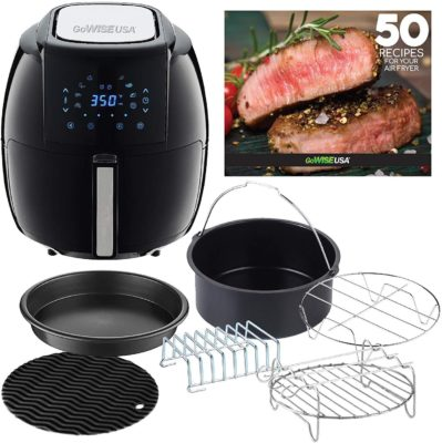 GoWISE USA GWAC22003 5.8 Quart Air Fryer with Accessories