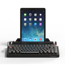 Qwerkywriter S Typewriter Inspired Retro Mechanical Wired Wireless Keyboard with Tablet Stand